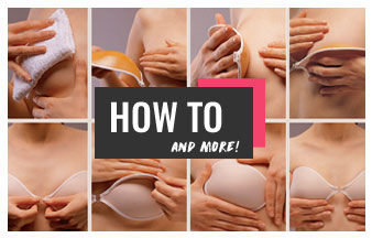 how to put on sticky bra